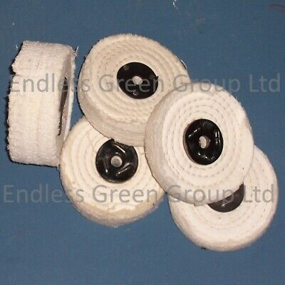 4  Stitched Cotton Buffing Wheel - Firm Polishing Wheel - 100mm Choice Of Width • 17.75£