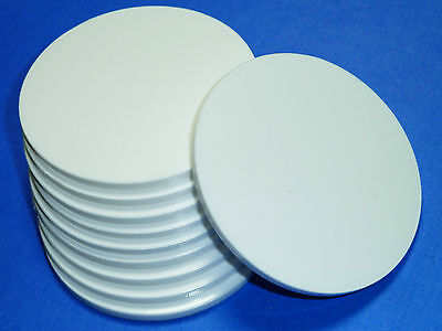 White / Black / Clear Laser Cut Plastic Circles 3mm Thick Acrylic Discs Perspex • 1.69£