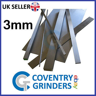 Ground Flat Stock Gauge Plate 3mm Thickness - 01 Tool Steel - Widths 3mm-300mm • 13.36£