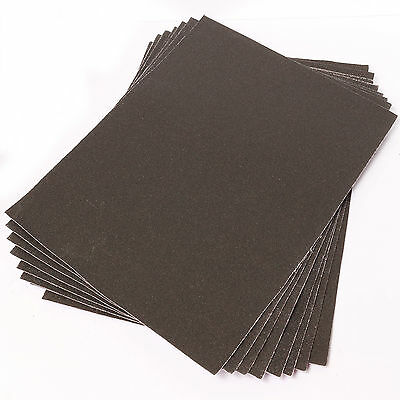 Large Emery Cloth 8 Sheets Pack  60+100+150 GRITS Fine/Coarse Strong Sandpaper  • 5.95£