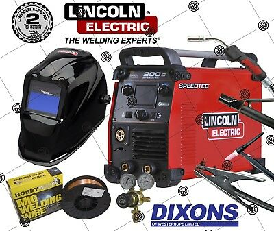Lincoln Electric Speedtec 200C Flux Cored MIG Lift TIG ARC MMA Stick Welder • 1,659£