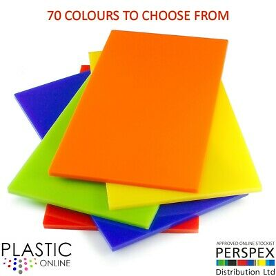 5mm Colour Perspex Cast Acrylic Sheet Plastic Panel 55 DIFFERENT COLOUR A5 A4 A3 • 23.62£