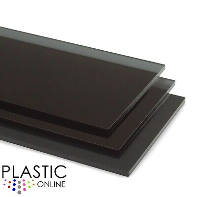 Dark Smoked Grey Tint Black Tint Perspex Acrylic Sheet Plastic Cut To Size • 26.11£