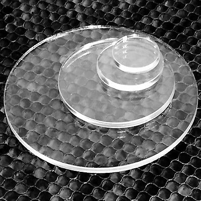 Clear Laser Cut Plastic Circles 3mm Thick Acrylic Discs - Perspex • 5.65£