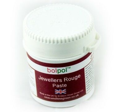 Jewellers Rouge - Soft Paste To Clean Polish Gold, Silver & Soft Metals 120g Pot • 9.95£