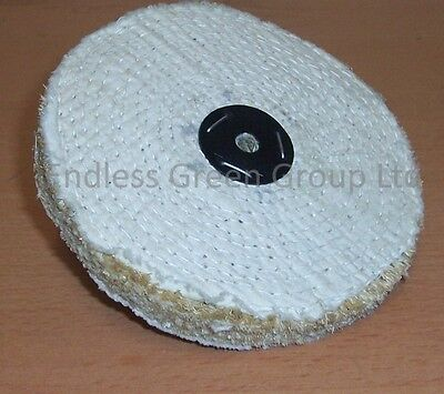 SISAL Buffing Wheel 150mm X 1 Section - Coarse Grade For Cleaning Metal - S150/1 • 6.25£