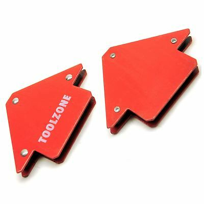 25lb Small Welding Magnet X 2 Right Angle Square Holder Soldering Durable TE134 • 5.65£