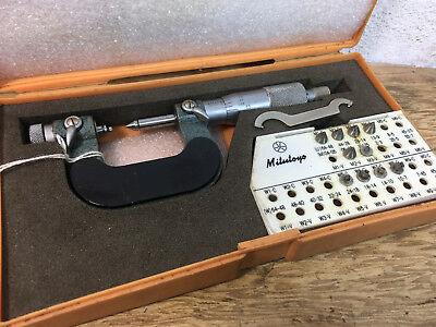 Rare Mitutoyo 126 - 137  0-1 Inch Screw Thread Micrometer Pitch Ratchet Stop • 379£