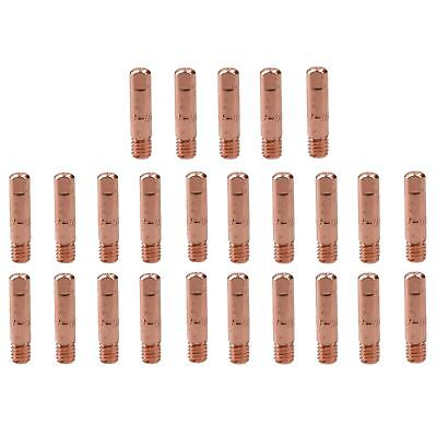 0.8mm Mig Welding Welder Round Contact Tips For MB15 Euro Torches 25pk • 9.50£