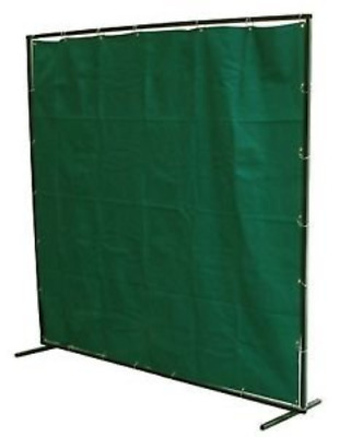 Welding Safety Curtain & Frame - Dark Green Vinyl, Metal Eyelets (All Sizes) • 99.95£