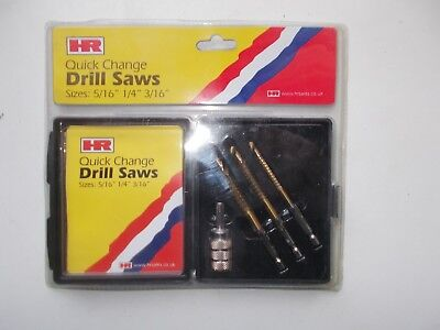 HR Drill Saw Set With Quick Change Chuck In Storage Box : HR4116 • 9.99£