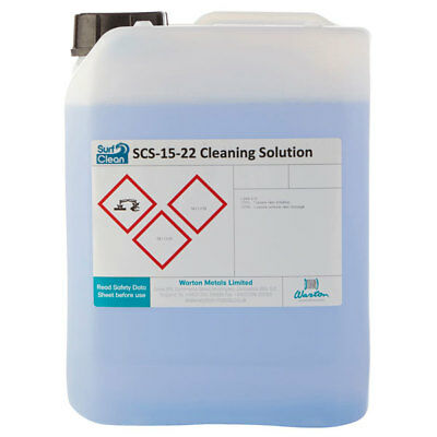 Warton SCS-15-22 5L Surf Clean SCS-15-22 Saponification Cleaning Solution 5L • 86.49£