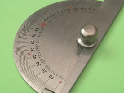 Metal Protractor Angle Hand Tool Semi Circle Degrees Measuring Scale Steel Rule • 7.99£