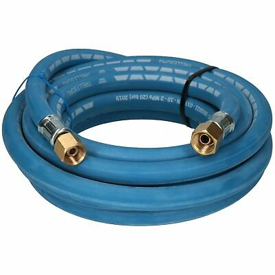 Single Oxygen Fitted Rubber Hose Pipe Cutting & Welding 5M 3/8  BSP Gas Blue • 22.75£