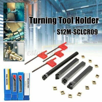 4 Set 12mm Shank Lathe Turning Tool Holder Boring Bar +CCMT09T304 Carbide  ~ • 15.94£