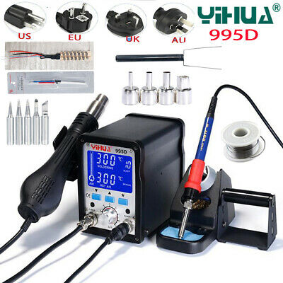 YIHUA 995D 2In1 BGA Rework Soldering Station SMD Welding Solder Iron Hot Air Gun • 133.99£