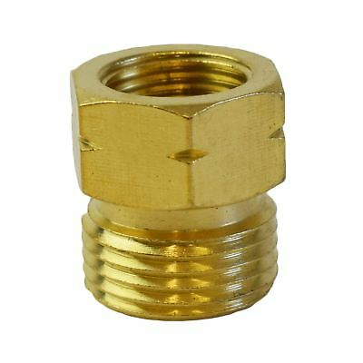 Gas Hose Adapter 21.8-14 To G 3/8-19 Regulator Bottle Pipe Burners Brass Thread • 5.20£