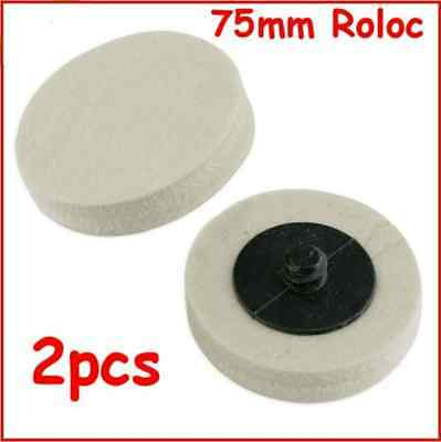 Roloc 75mm Felt Discs Smart Repair Polishing Discs 2pcs Free Postage  • 4.99£
