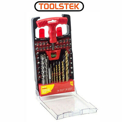 Drill Bit & Screwdriver Bit Set Tool Kit 50pc Storage Case Combination Drill Kit • 9.95£