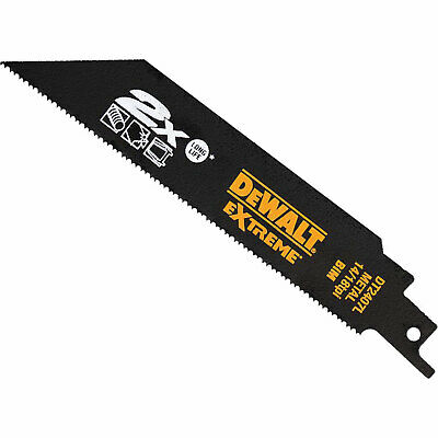 DeWalt Extreme 2X Life Metal Cutting Reciprocating Saw Blades 203mm Pack Of 5 • 34.95£