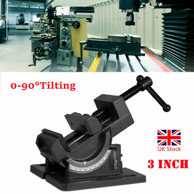 4 Angle Drill Press Vise Industrial Strength Benchtop Tilting Angle Vise • 42.95£