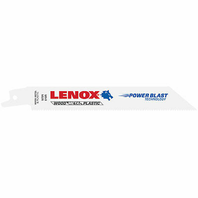 Lenox 10TPI Multi Material Reciprocating Saw Blades 152mm Pack Of 5 • 18.95£