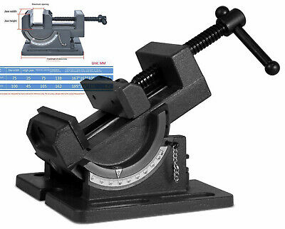 4 Angle Drill Press Vise Tilting Angle Vise Industrial Strength Benchtop • 40.55£