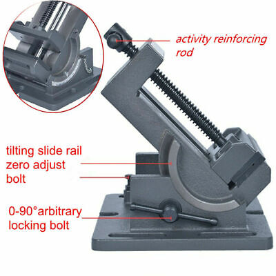 3 Drill Press Tilting Angle Vise Flat Plier  Industrial Strength Benchtop • 31.96£
