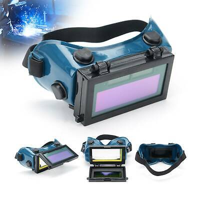 Auto Darkening Lcd Welding Goggles Glasses Mask Eye Safety Grinding Solar Power • 9.99£