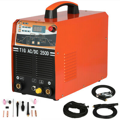 250AMP AC/DC Pulse TIG/MMA IGBT Inverter 2-in-1 Welding Machine 2T/4T • 376.82£