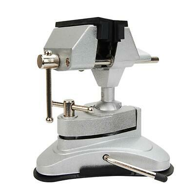 40231902 Mini Table Hobby Jewlery Work Swivel Suction Vacuum Base Vice 70mm • 16.99£