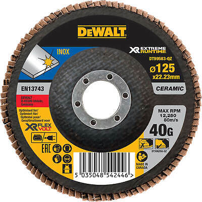 DeWalt Extreme Runtime Flap Disc 125mm 125mm 40g Pack Of 1 • 12.95£