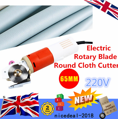 Rotary Blade Electric Round Cloth Cutter Fabric Cutting Machine Cloth Blade NEW • 45.50£