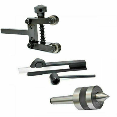 Live Center MT1 With Cut Off Tool 5/16 X 9/16 X 3.5 Inch And Knurling Tool 2 In • 44.99£