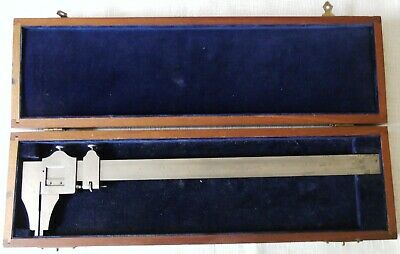 Vintage 13  Brown & Sharpe No. 36 Vernier Caliper Fitted Wooden Box Providence • 19.99£