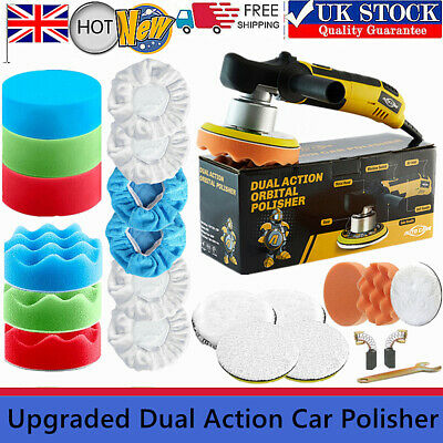 Dual Action Car Polisher 6  Wax Pads Kit Buffer Sander Orbital Polishing Machine • 50.59£