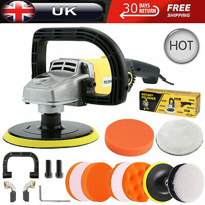 1200W Rotary Polishing Machine Car Polisher Buffer Sander 5  7  Buffing Wax Pads • 38.99£