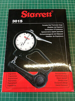 Starrett 3015A Portable Dial Thickness Gage - Imperial. Engineer. Metrology. • 55£