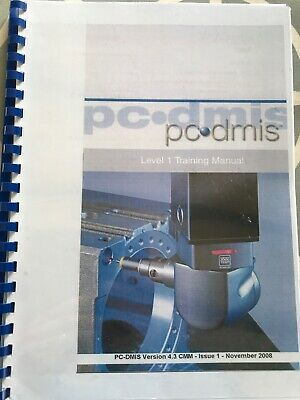 PC DMIS CMM Status Level 1 Training Book 128 Pages • 190£