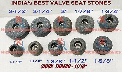 VALVE SEAT GRINDING STONES SET OF 10 PCS For SIOUX HOLDER 11/16  Thread 80 Grit. • 29.45£
