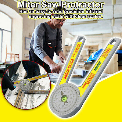 Engineering Pro Miter Saw Protractor Angle Finder Ruler Degree Measurement Ruler • 7.89£
