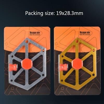 Aluminum Alloy Hexagon Ruler Saw Angle Finder Gauge Protractor Inclinometer Tool • 13.57£