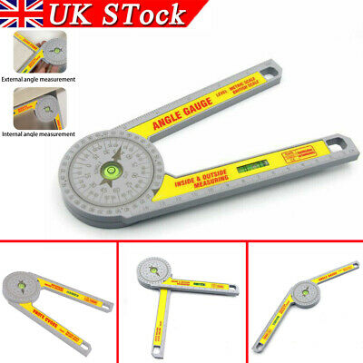 UK Angle Finder Miter Saw Protractor Measuring Ruler Tool Goniometer Pro Durable • 7.79£