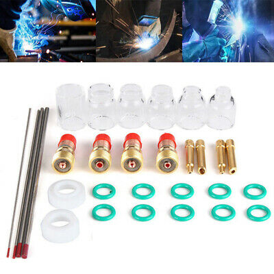 30Pcs TIG Welding Accessories Torch Stubby Gas Slot Glass Cup For WP17/18/26 *uk • 27.99£