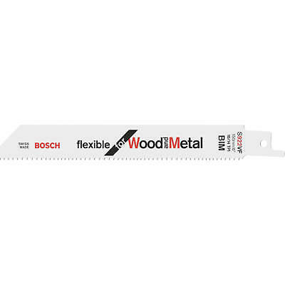 Bosch S922VF Wood And Metal Cutting Reciprocating Saw Blades Pack Of 5 • 15.95£