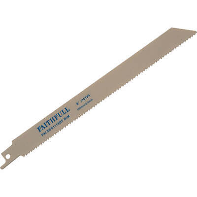 Faithfull S1118BF Metal Reciprocating Saw Blades 200mm Pack Of 5 • 22.95£