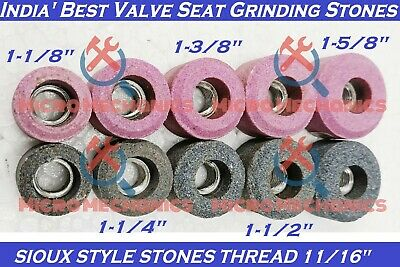 10x Kit Of VALVE SEAT GRINDING STONES For SIOUX HOLDER 11/16  Thread 80 Grit. • 36.99£