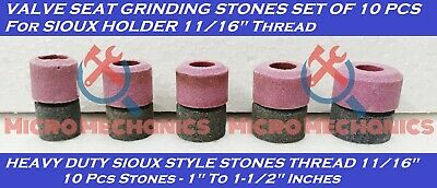 10x VALVE SEAT GRINDING STONES Kit For SIOUX HOLDER 11/16  Thread 80 Grit. • 36.99£