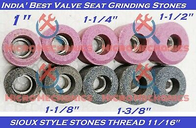 10x Set Of VALVE SEAT GRINDING STONES For SIOUX HOLDER 11/16  Thread 80 Grit. • 36.99£