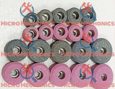 20x VALVE SEAT GRINDING STONES Kit For SIOUX HOLDER 11/16  Thread 80 Grit. • 64.72£